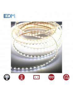 Tira de led  12mm grosor 60leds/m 4,2w/m blanco frio ip44 6.400k edm 220-240v (uso interior-exterior)  euro/mts