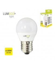 Bombilla esferica led - e27 - 5w - 400 lumens - 4000k - luz dia - lumeco