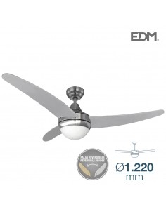 Ventilador de techo modelo egeo 60w ø 122cm mando a distancia edm madera haya / cromo 115m3/min