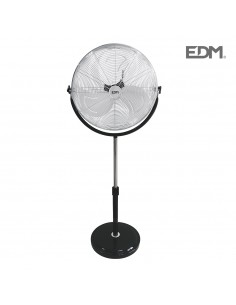 Ventilador de pie industrial 120w  ø50cm edm altura regulable 68-88cm  edm