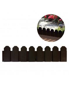 Bordura de polietileno color marron 20x80cm (pack 4 unid.) incluye piqueta de fijacion
