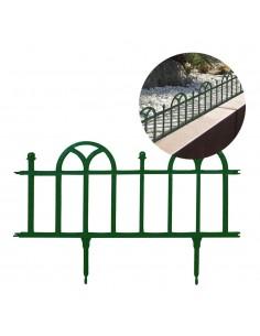 Bordura de aire clasico de polietileno color verde 26x61cm (pack 4 unid.)
