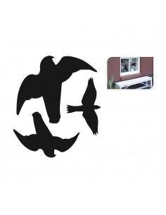 Adhesivos pajaros para ventana 3 formas surtidas