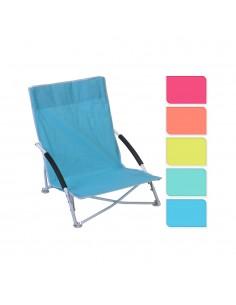 Silla metalica playa 78x16x42cm (colores surtidos)
