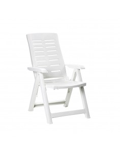 Sillon plegable multiposiciones color blanco 60x61x109cm