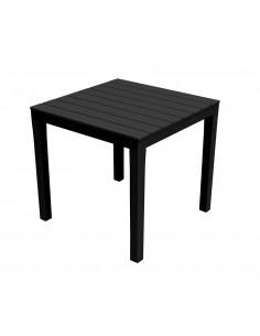 Mesa cuadrada color negro 78x78x72cm