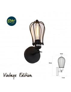 Aplique vintage e27 60w - 32x16x11cm