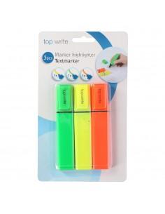 Pack de 3 rotuladores fluorescentes