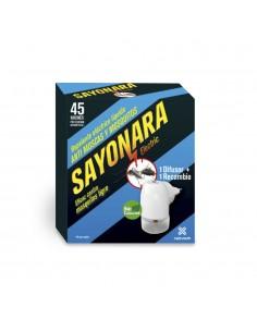 Repelente electrico sayonara anti moscas mosquito comun y tigre uso interior (caja difusor mas recambio-liquido)