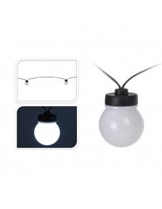 Guirnalda con 20 bombillas esfericas de led fija blanco frio ip44