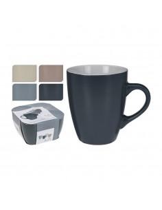 Set de 4 tazas cafe 34cl colores surtidos