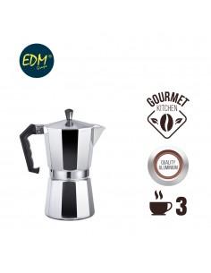 Cafetera de aluminio - 3 tazas - edm