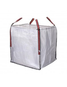 Big bag escombros 90x90x100cm blanco aguanta hasta 1000kg