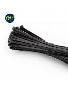 Bridas reutilizables negras 300x4,5mm (bolsa 100uni)