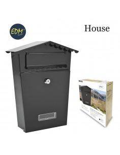 Buzon en acero modelo house negra