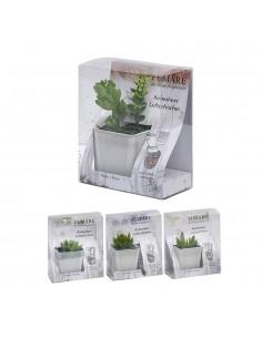 Planta artificial   7,7x5cm cristal 10ml
