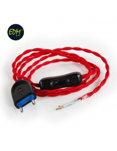 Kit cordon 2x0,75 120+80cm rojo