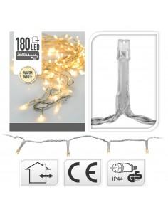 Guirnalda fija  mini light 180 luces blanco calida cable transparente