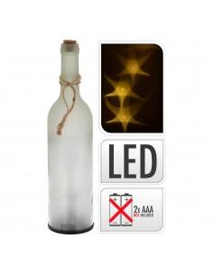 Botella de cristal decorativa con led 29cm pilas 3xaaa no incluidas