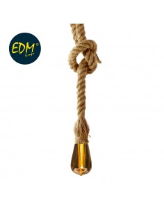 Kit colgante vintage cuerda con bombilla tubular inlcuida  3xaaa