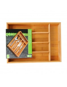 Bandeja almacenamiento cubiertos bamboo 34x25x4,5cm