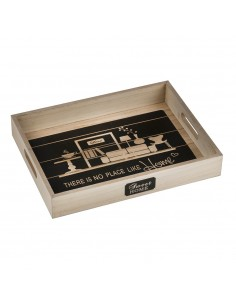 Bandeja de madera diseño sweet home 25x33x5cm