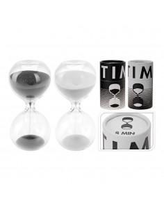 Reloj de arena de cristal 8 minutos 4,5x9,5cm