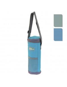 Nevera para botellas 1,50l con bandolera ajustable 12x34cm colores surtidos