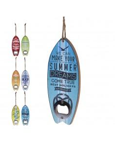Abridor de botellas con cuerda de sisal 6 diseños surtidos
