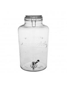 Dispensador de bebidas de cristal 8l