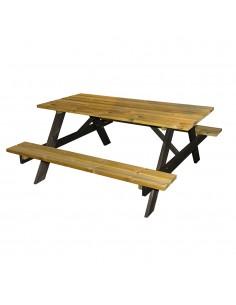 Mesa de picnic de madera 150x153x67cm