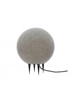 Bola de led para exterior efecto piedra e-27 ø30cm