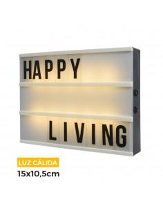 Caja de mensajes de led luz calida 15x10,5x4cm