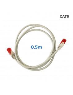 Cable utp cat.6 latiguillo rj45 cobre lszh gris 0,5m