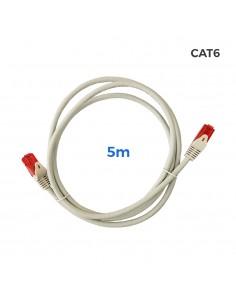 Cable utp cat.6 latiguillo rj45 cobre lszh gris 5m