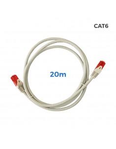 Cable utp cat.6 latiguillo rj45 cobre lszh gris 20m