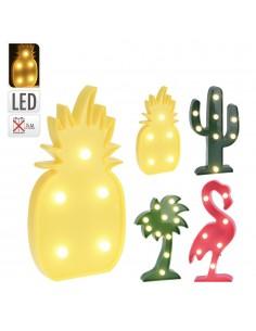 Figura de led modelos surtidos (cactus 8 leds , piña 5 leds, arbol de coco 11 leds y flamenco 7 leds)