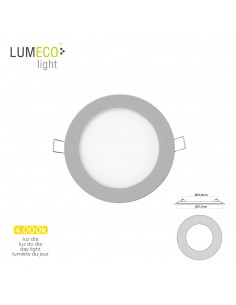 Mini downlight led lumeco 6w 320 lumen  redondo 12cm 4.000k marco cromo