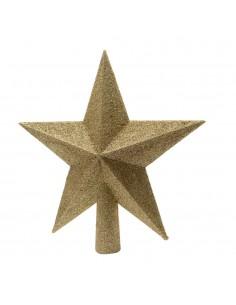 Estrella dorada para arbol de navidad
