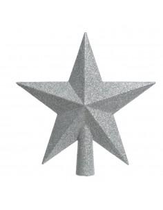 Estrella plateada para arbol de navidad