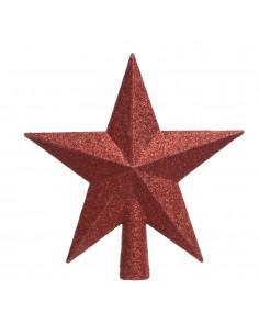Estrella roja para arbol de navidad