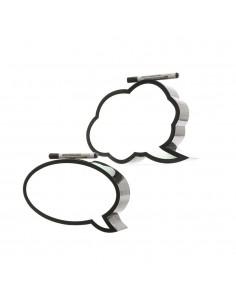 Pizarra de led con marco negro 2 modelos surtidos