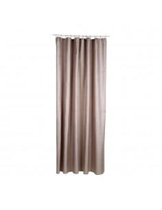 Cortina para baño - polyester - marron - 180x200cm