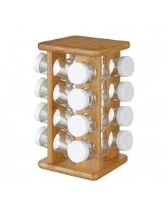 Set para especies 16 jarrones rotativo fabricado en bamboo