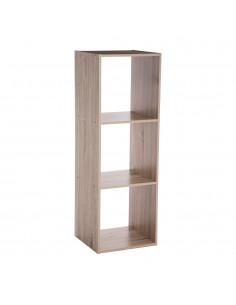 Estanteria madera para 3 cajas organizadoras 34,4 x32x100,5cm