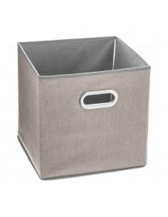 Caja organizadora color beige para estanteria 31x31x31cm