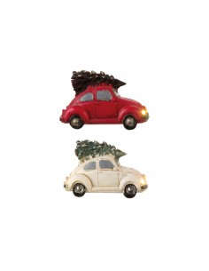 Figura coche beetle con arbol colores surtidos 12x5x6cm