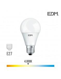 Bombilla standard led - smd - e27 - 7w - 580 lumens - 4000k - luz dia - edm