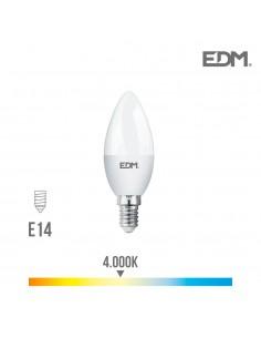 Bombilla vela led smd 5w 400 lumens e14 4.000k  edm