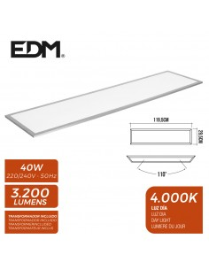 Panel led 120x30cm 40w 4.000k luz dia 3200 lumenes